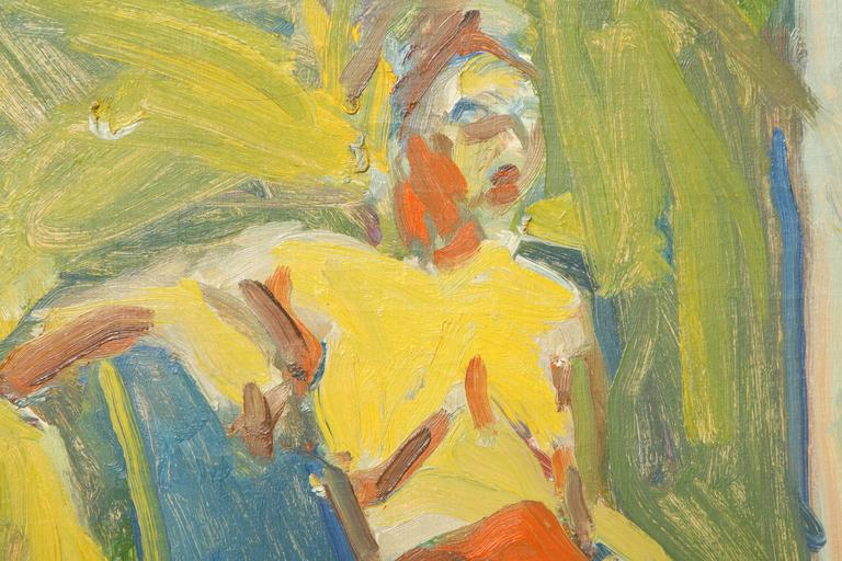 Mid-Century Modern Nude Painting by Eduardo Rouario, circa 1968 For Sale