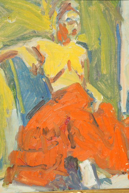 Mid-20th Century Nude Painting by Eduardo Rouario, circa 1968 For Sale