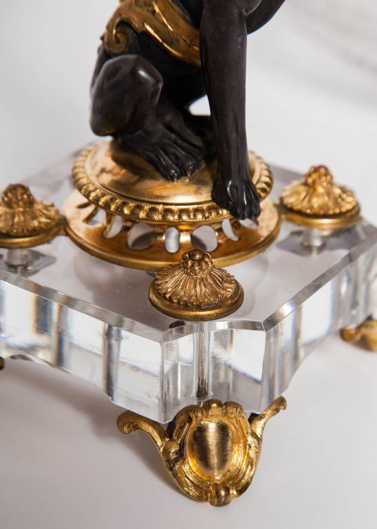 Exceptional Pair of Antique French Baccarat Crystal and Doré Bronze Compotes For Sale 5