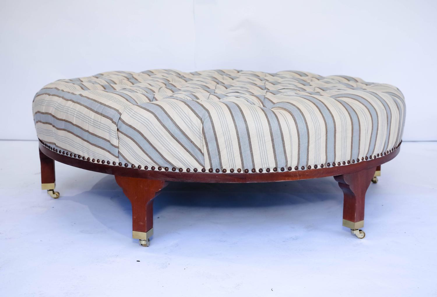 tufted round ottoman in - photo #46