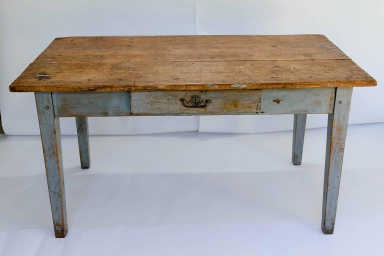 Rustic french farm table or writing desk. Made of beautifully painted wood  with an excellent