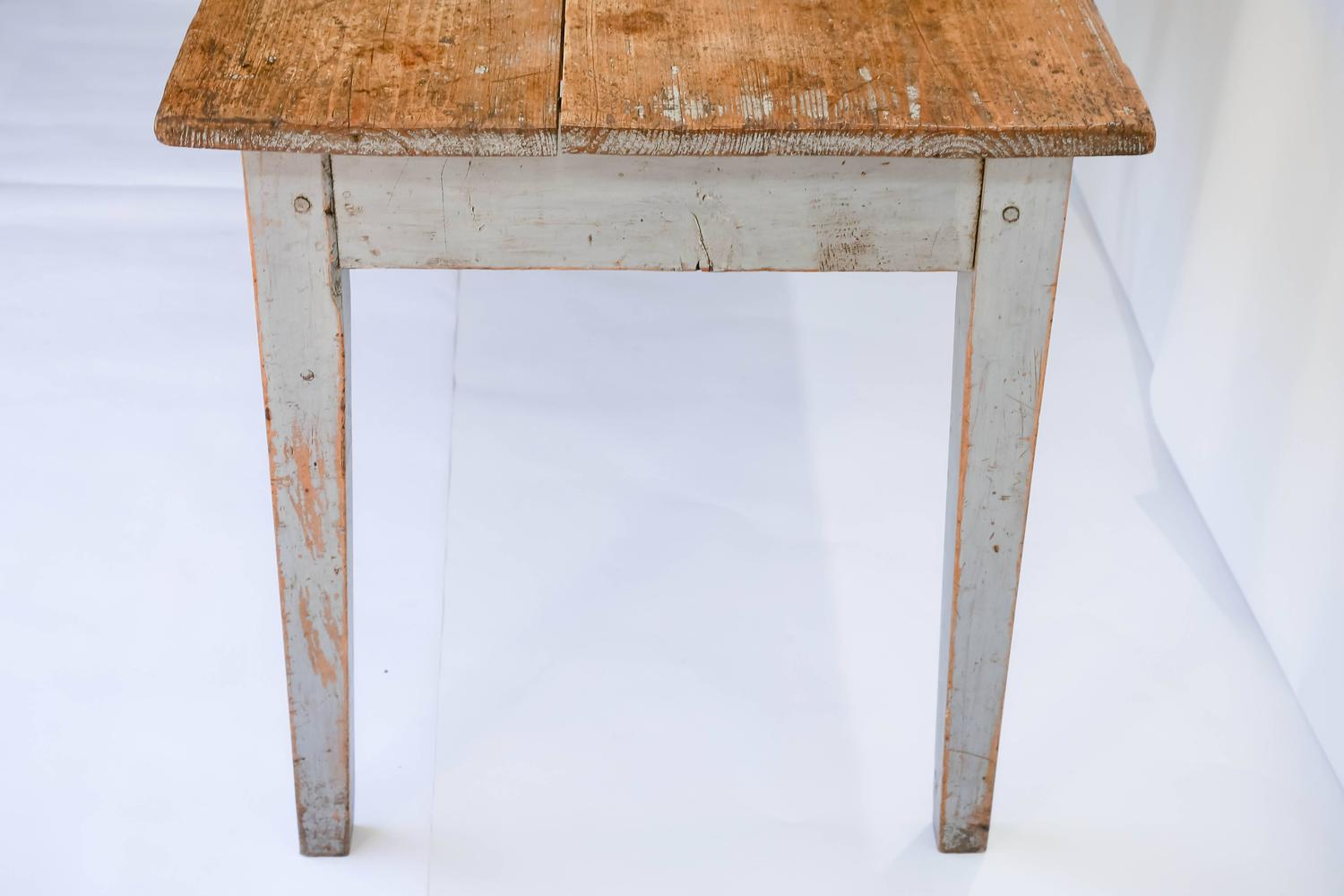 Wonderful image of Rustic Painted Farm Table or Writing Desk with Drawer at 1stdibs with #774C28 color and 1500x1000 pixels