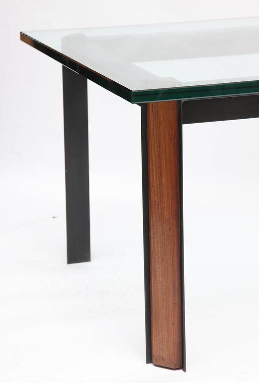 Side Tables Mid Century Modern Patinated Iron, Wood 1950's In Good Condition For Sale In New York, NY