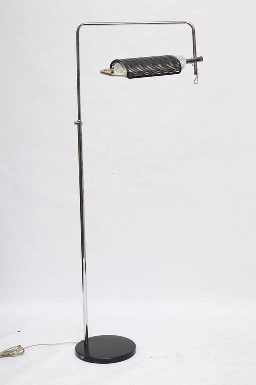 A 1970s articulated floor lamp by Robert Sonneman.