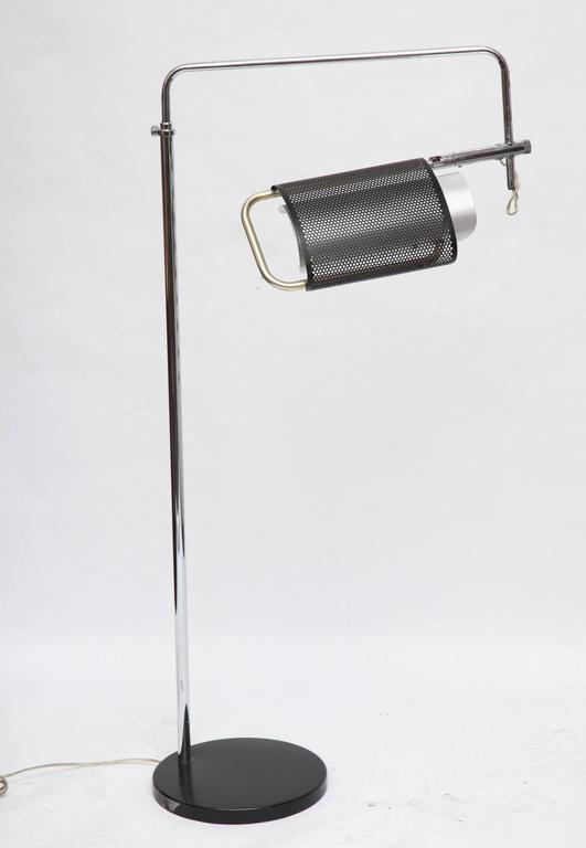 Metal 1970s Articulated Floor Lamp by Robert Sonneman For Sale
