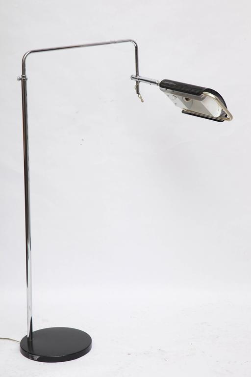 1970s Articulated Floor Lamp by Robert Sonneman For Sale 1