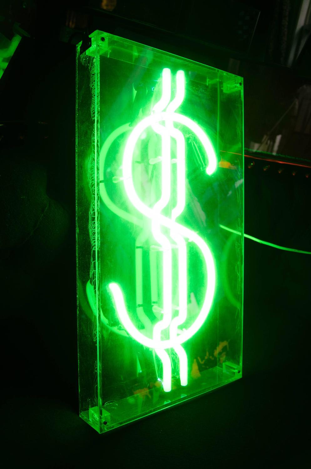 Neon Dollar Sign For Sale At 1stdibs