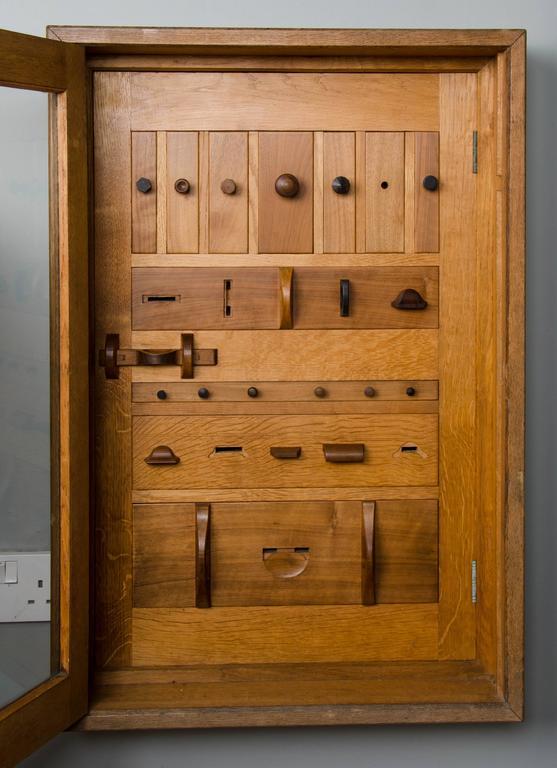 Cotswold school - cabinet of specimen drawer pulls For Sale at 1stdibs