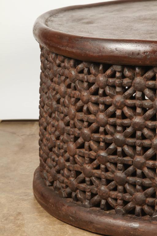 Round African Drum Table 2