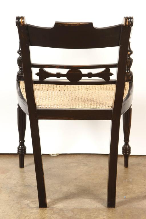 British Colonial Ebony Armchair at 1stdibs