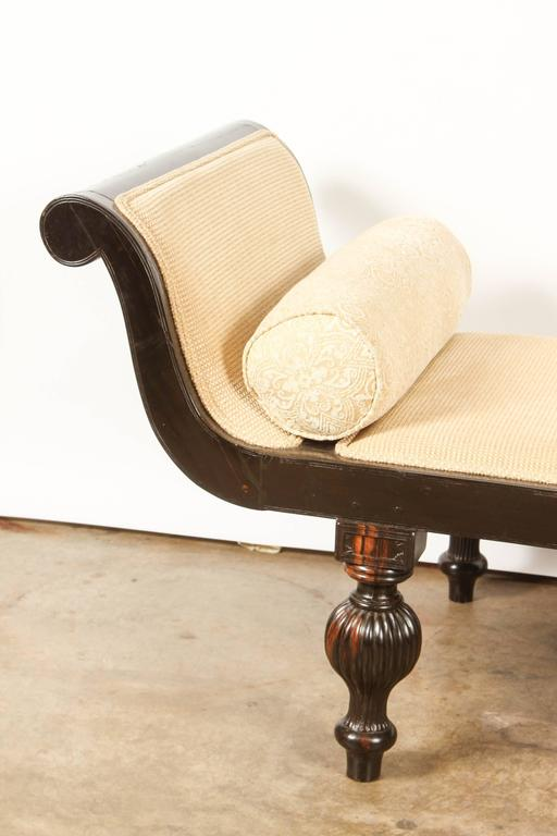 Classic British Colonial Ebony Chaise Longue At 1stdibs