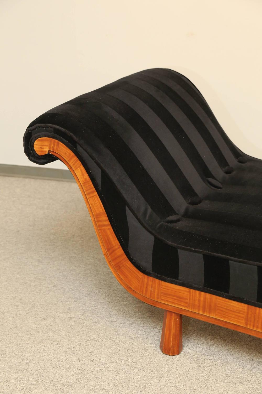 French art deco period recamier chaise longue circa 1920 for Art nouveau chaise longue