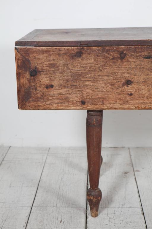 Rustic Drop Leaf Wooden Table with Turned Legs at 1stdibs : IMG9623l from www.1stdibs.com size 512 x 768 jpeg 39kB