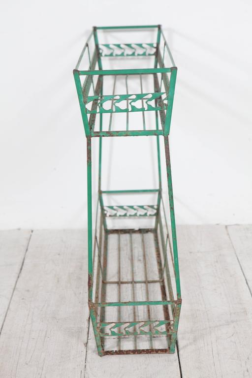 Vintage Italian Green Metal Plant Stand At 1stdibs