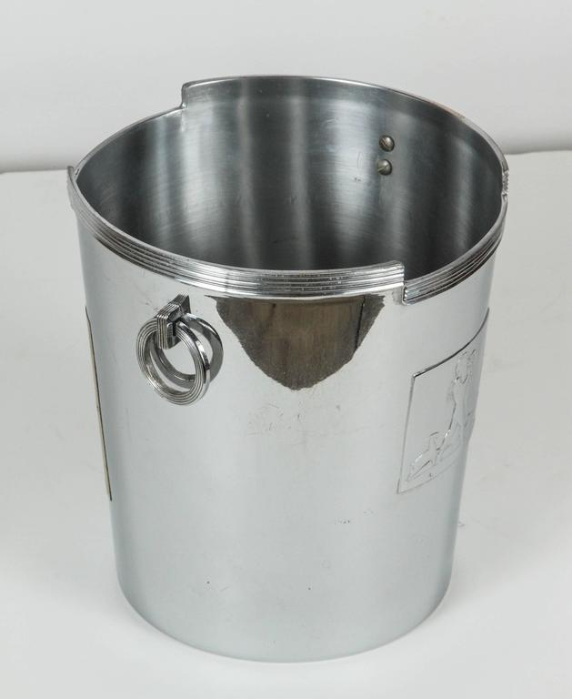 Art Deco American Chrome Champagne Ice Bucket 5