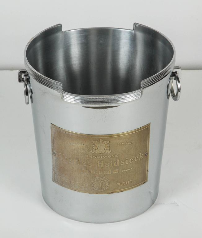Art Deco American Chrome Champagne Ice Bucket 6