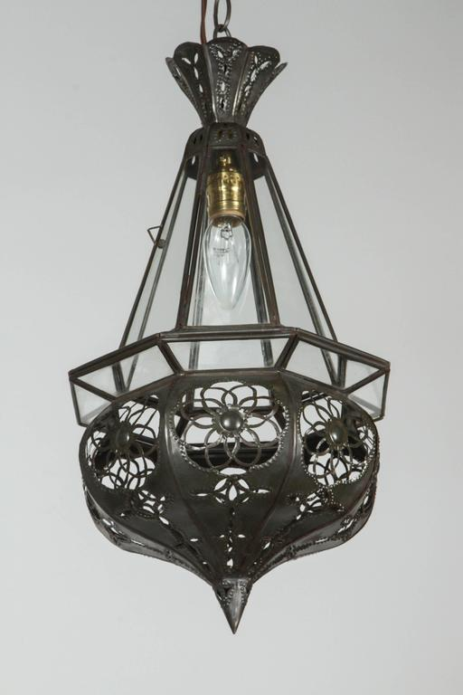 Moroccan Clear Glass Pendant For Sale At 1stdibs
