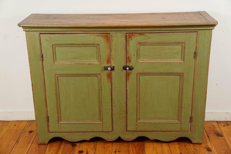 Green Painted Two Door Buffet At 1stdibs