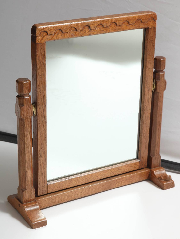 "Robert ""Mouseman"" Thompson Vanity Mirror For Sale at 1stdibs"