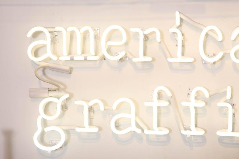 "Peter Buchman ""American Graffiti"" Neon, 2015 3"