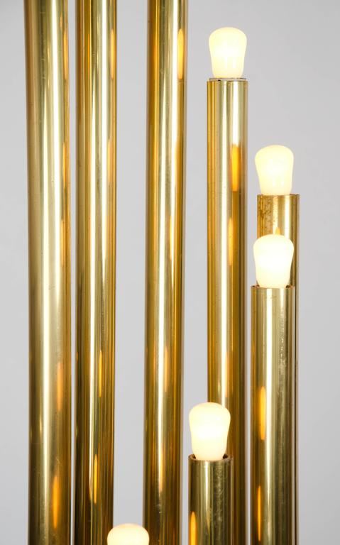 Brass Organ Pipe Floor Lamp By Reggiani At 1stdibs