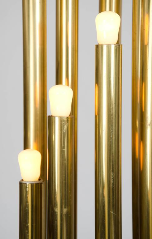 Brass Organ Pipe Floor Lamp By Reggiani At 1stdibs