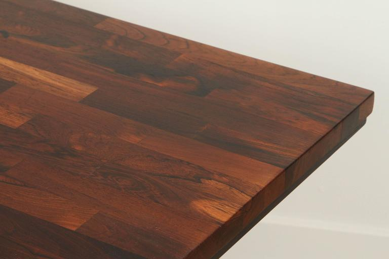 Solid Rosewood Desk with Stainless Base by Jules Heumann for Metropolitan Group 9