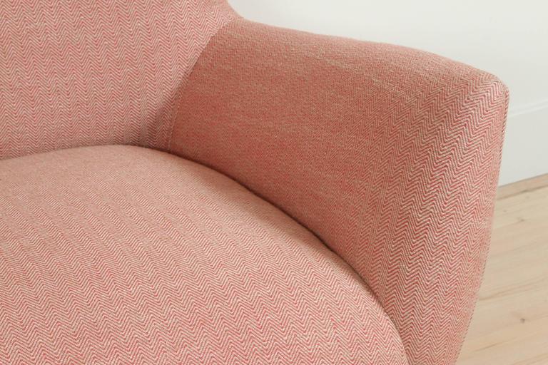 Mid-Century Modern Pink Italian Loveseat For Sale