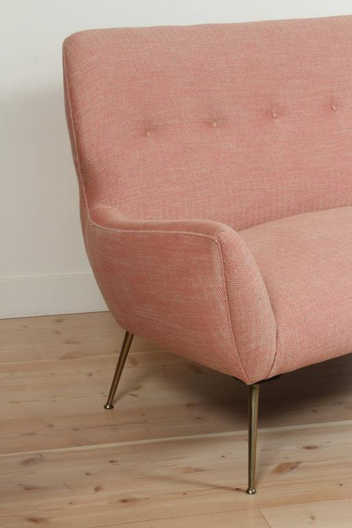 Pink Italian Loveseat For Sale 1