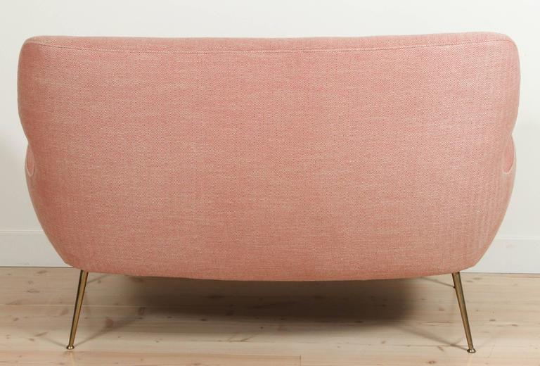 Pink Italian Loveseat For Sale 2