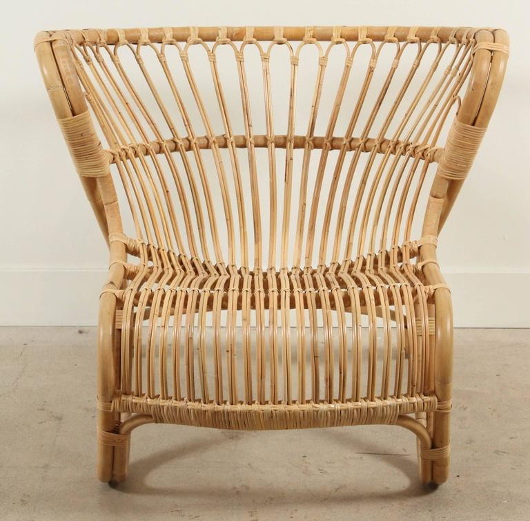 New Natural Rattan Fox Chair By Viggo Boesen For Sale At 1stdibs