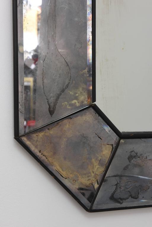Vintage Distressed Mercury Glass Art Deco Mirror At 1stdibs