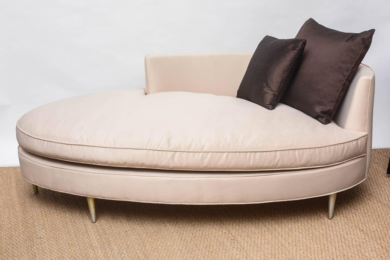 oval shaped recamier chaise at 1stdibs. Black Bedroom Furniture Sets. Home Design Ideas