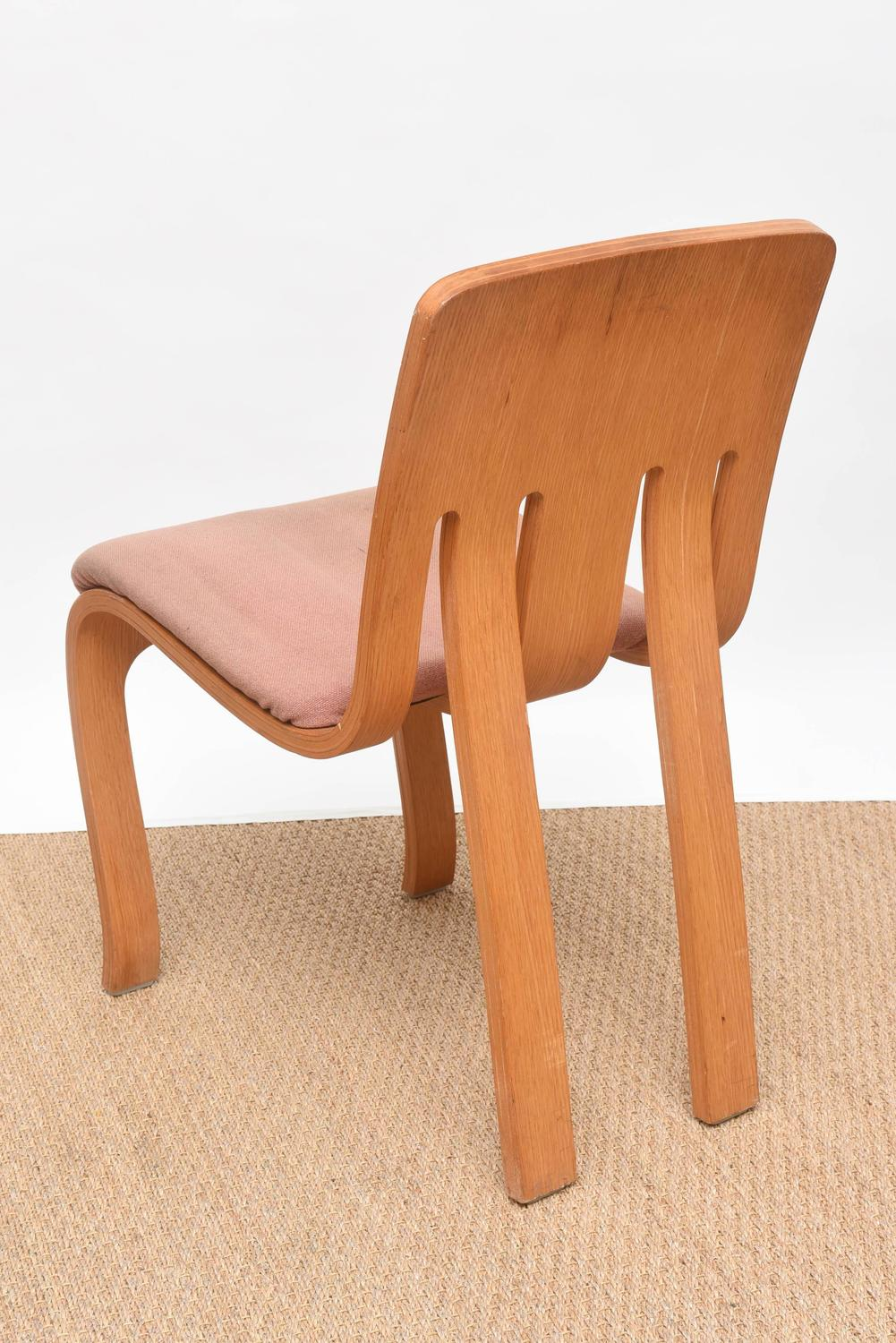 Rare set of thonet bent plywood chairs for sale at 1stdibs