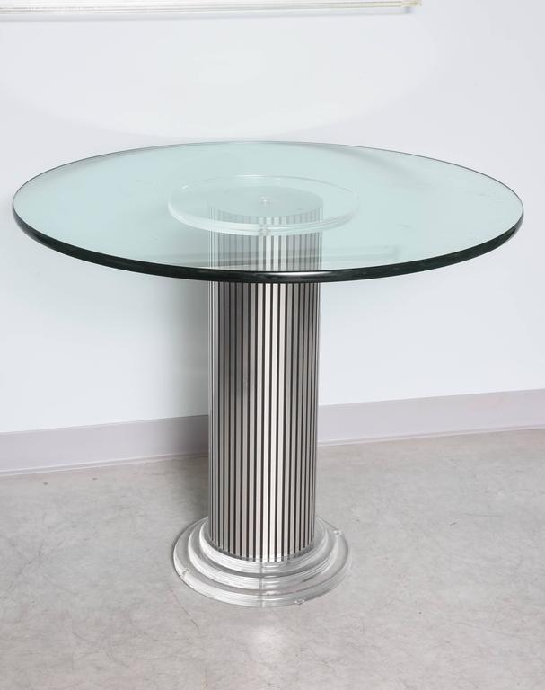 Vintage, Lucite Pedestal Table with Round 1