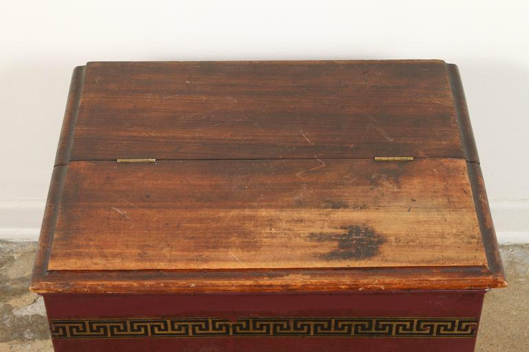 Chinese Late 19th Century English Tin and Wood Storage Box  For Sale