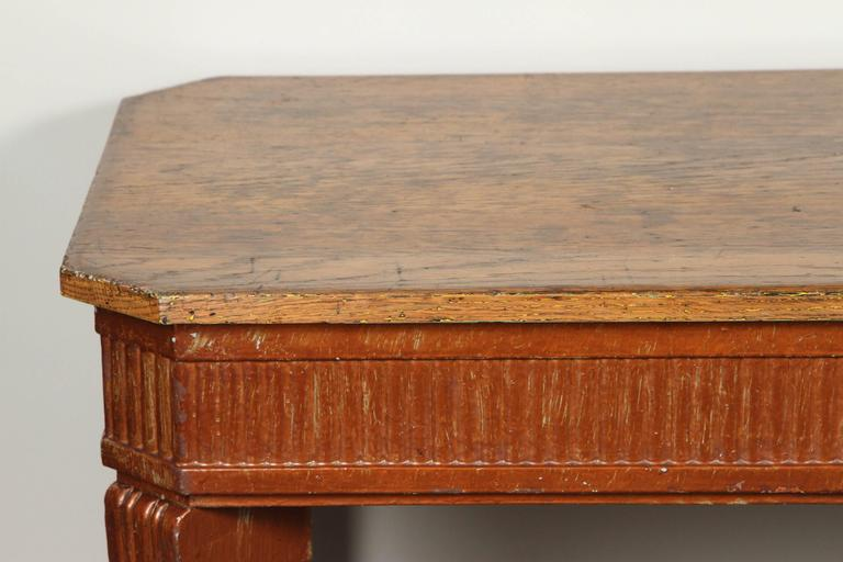 Mid-19th Century 1840s French Oak Wood Console Sideboard For Sale