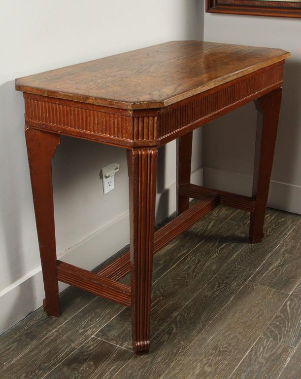 1840s French Oak Wood Console Sideboard For Sale 1