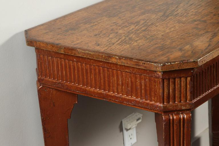 1840s French Oak Wood Console Sideboard For Sale 3