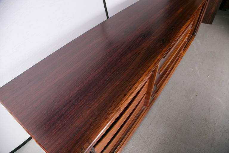 Danish Modern Rosewood Credenza by Dyrlund for Maurice Villency For Sale 2