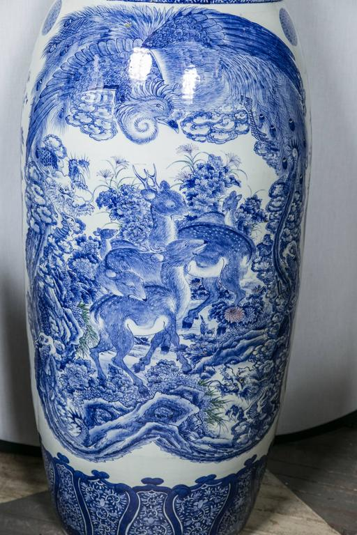 Japanese Blue And White Porcelain Palace Vase For Sale At 1stdibs