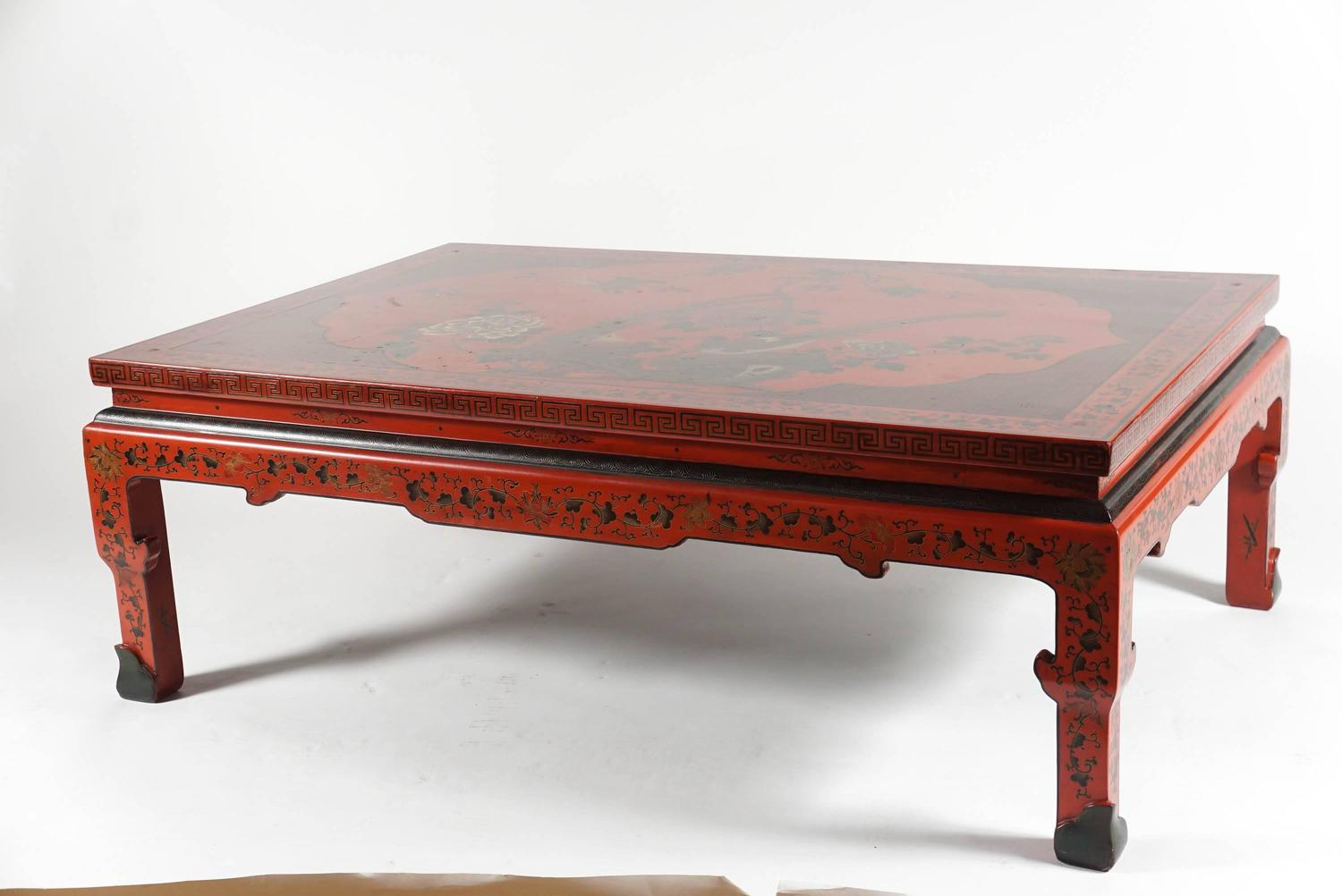 20th Century Chinese Chinoiserie Coffee Table At 1stdibs