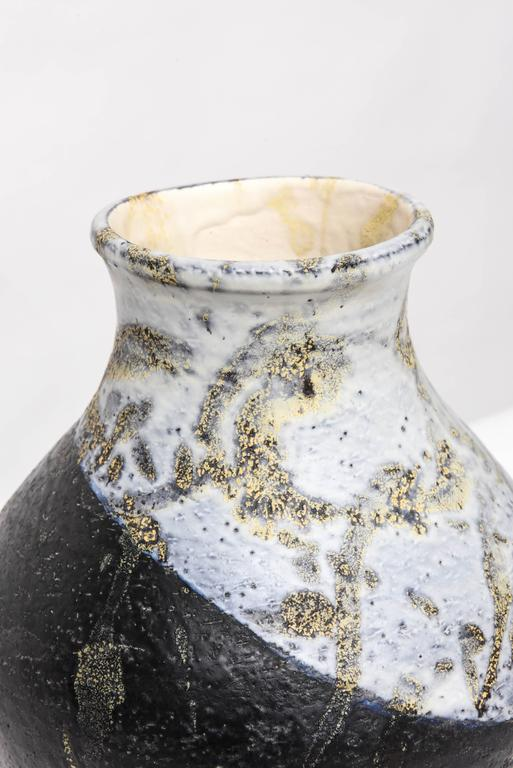 Exceptional signed vase in glazed ceramic by Marcello Fantoni.