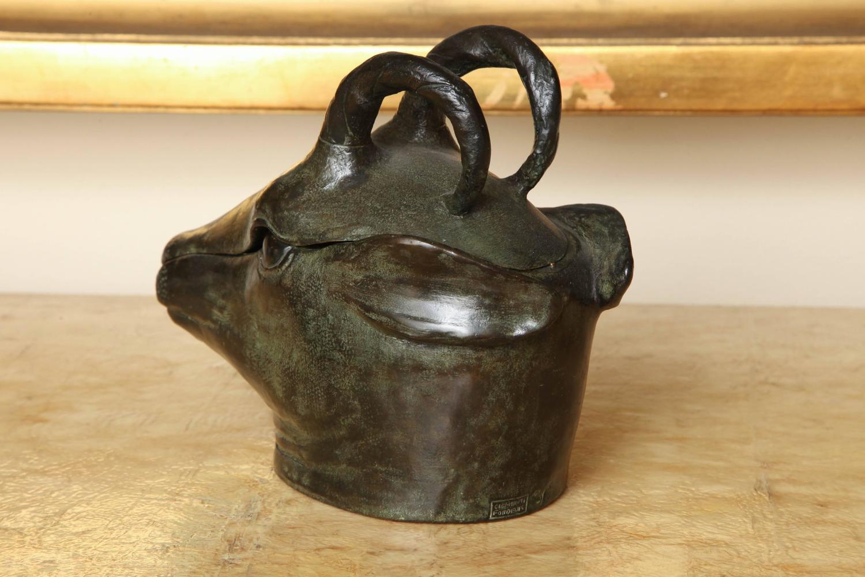 bronze tete de chamois box by paul simon for sale at 1stdibs. Black Bedroom Furniture Sets. Home Design Ideas