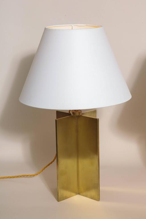 Jean-Michel Frank French Art Deco Pair of 'Croisillon' Table Lamps For Sale 3
