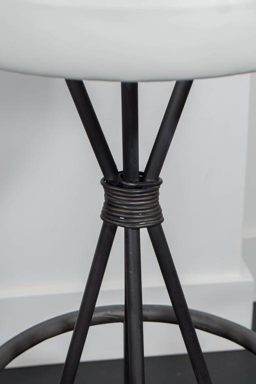 Leather and Iron Barstools For Sale 1
