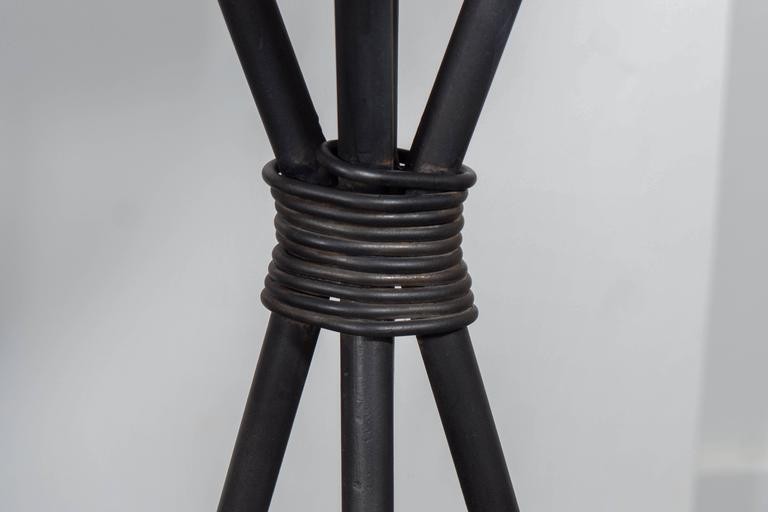 Leather and Iron Barstools For Sale 4