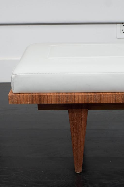 Leather and Rosewood Bench 2
