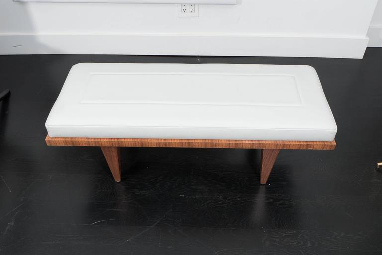 Leather and Rosewood Bench 3