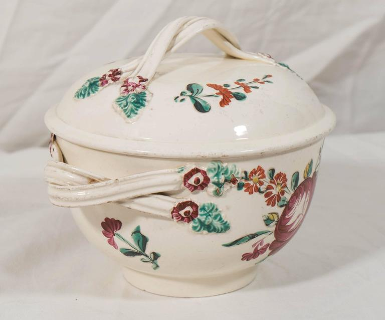 Hand-Painted Antique Creamware